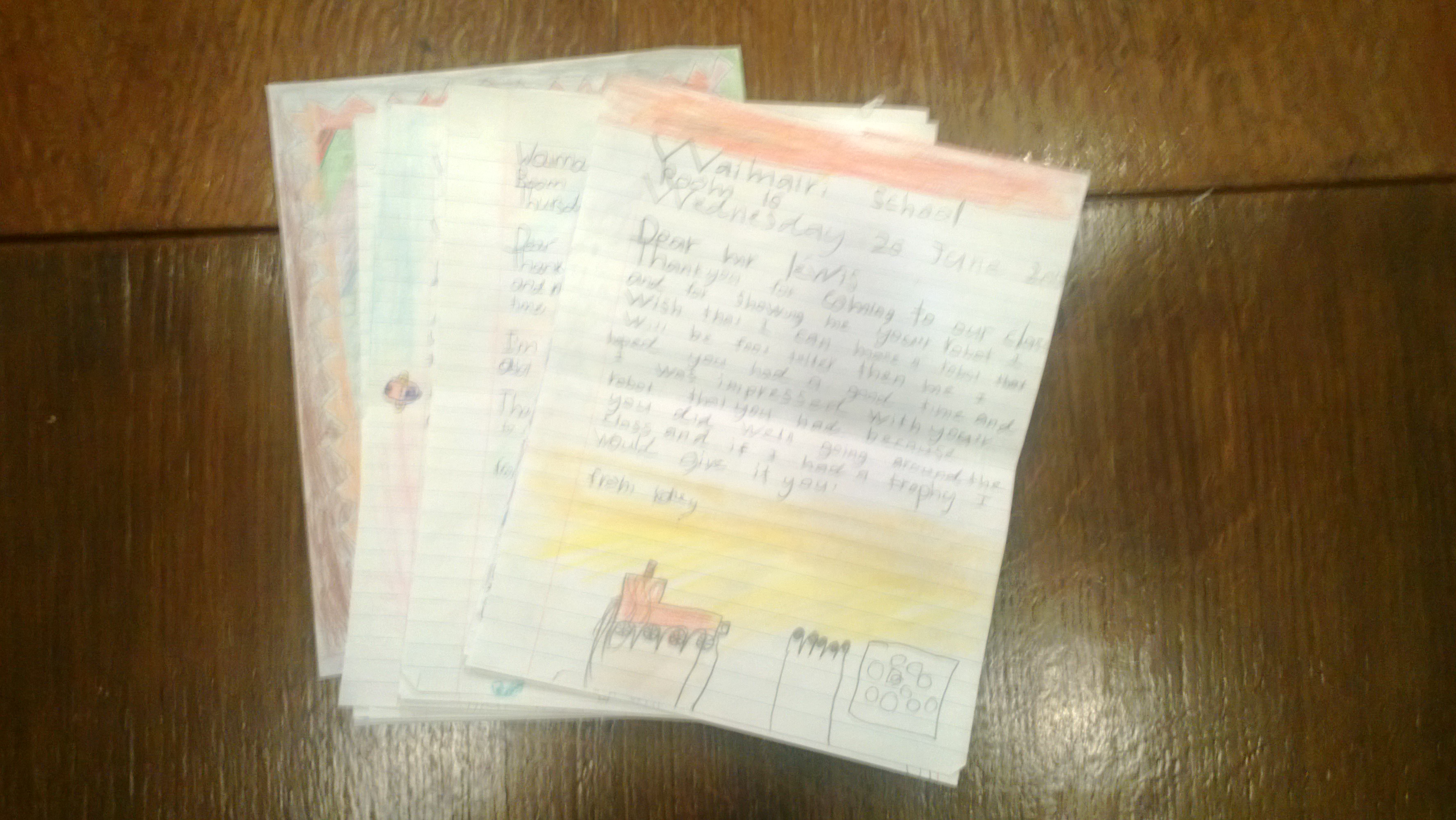 School Thank you letters