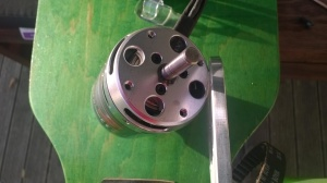 photo of circlip end of SK3 motor
