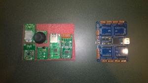 MikroBusNet Quail board and a selection of click boards