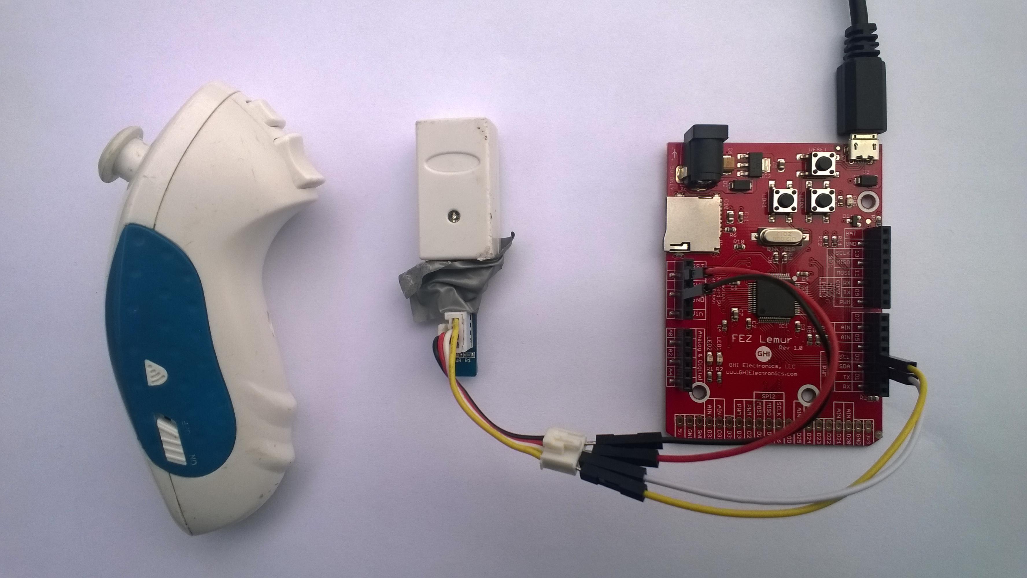FEZ Lemur Wireless Wii NunChuck interface