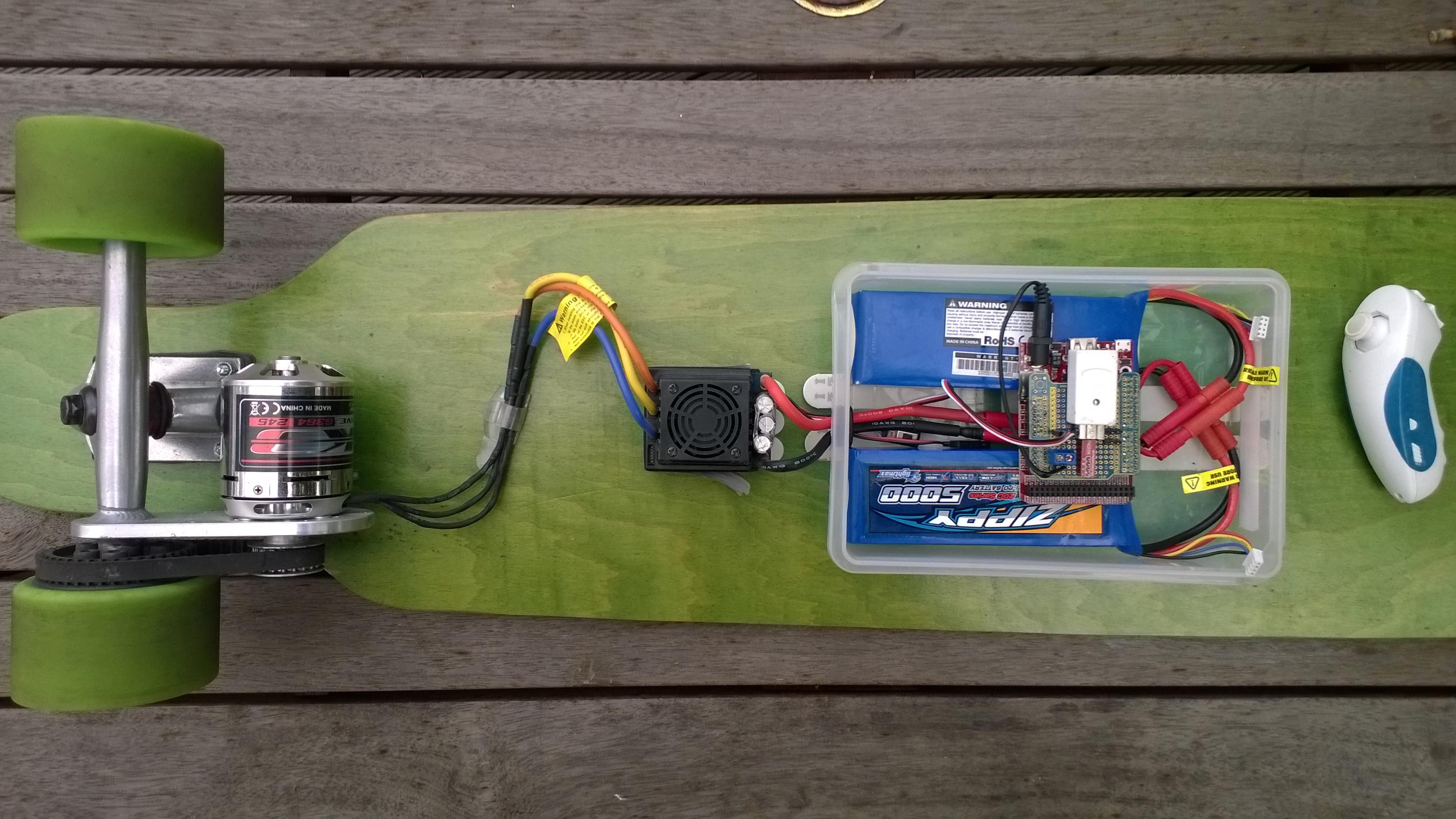 Longboard with FEZ Panda III board based controller